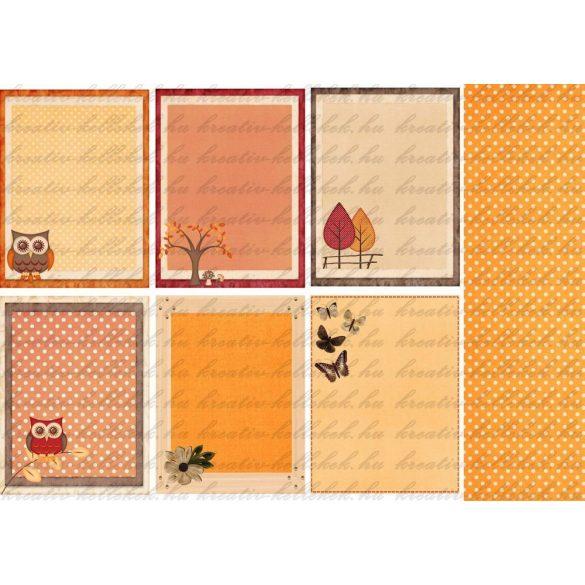 Komment kártyák 1 őszi csomaghoz