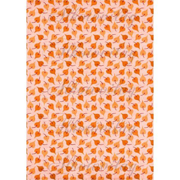 Narancssárga apró őszi levelek
