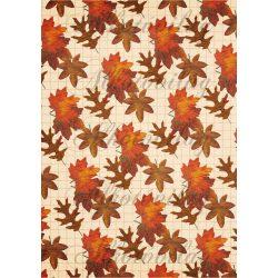 Őszi levelek négyzetrácsos alapon