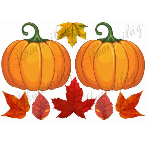 Tökök őszi levelekkel