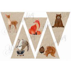 Zsákvászon banner állatkákkal