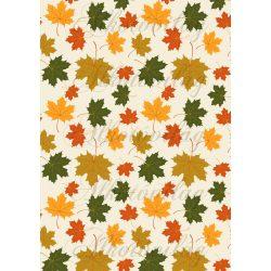 Őszi levélkavalkád kisebb levelekkel