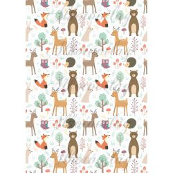 Az erdő cuki lakói - őzike, róka, maci nyuszi, süni, bagoly