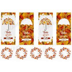 Helló gyönyörű ősz - blokkok könyvjelzőnek, dekorációnak