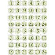 Adventi számok – zöld