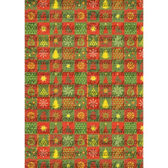 Retro karácsony apró négyzetekben