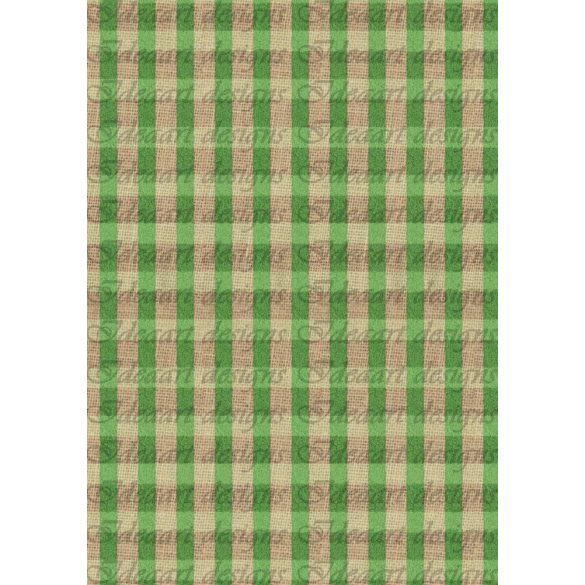 Zöld-barna zsákvászon
