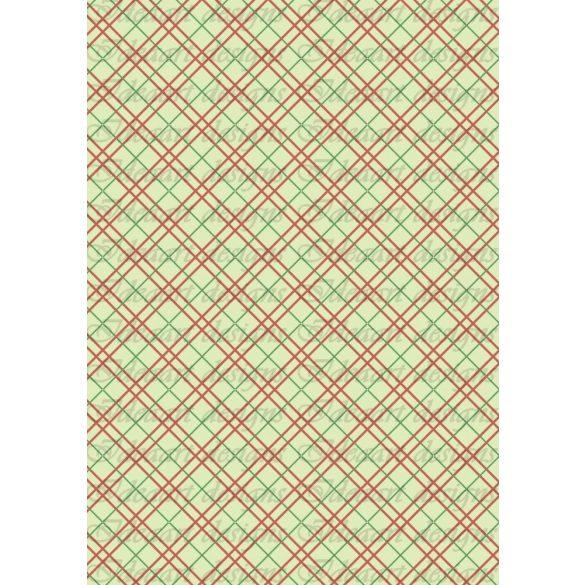 Bordó-zöld kockás átlósan