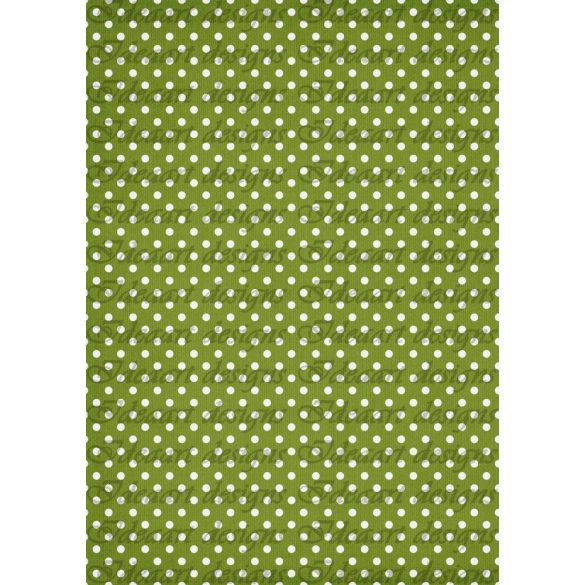 Fehér pöttyök zöld alapon