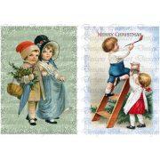 Vintage karácsonyi gyermekek