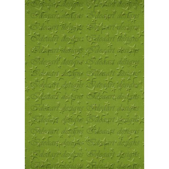 Dombormintás csillagok – zöld