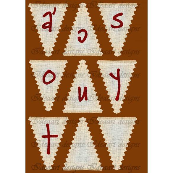 Boldog Karácsonyt feliratú háromszög banner 1. rész