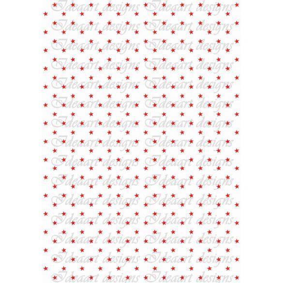 Csillagos pirosban fehér alapon
