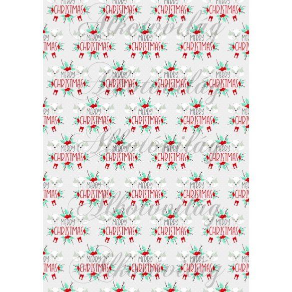 Téli rókás csomag: merry christmas rókákkal