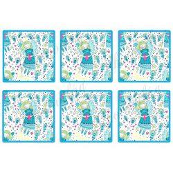 Angyalkás kék négyzetekben