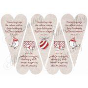 Karácsonyi rege drapp szívben