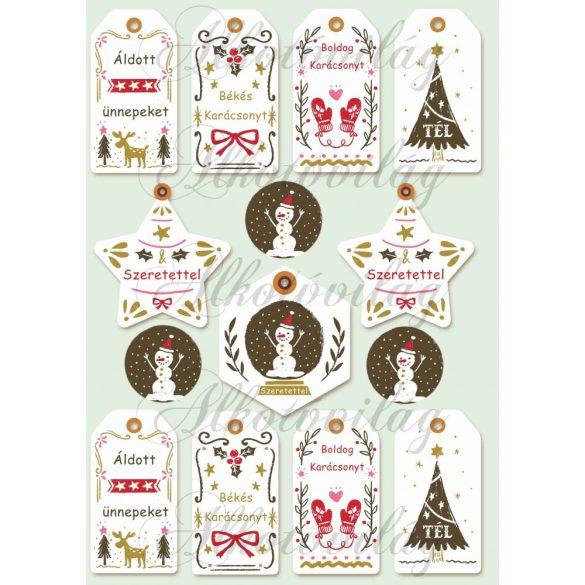 Kártyák retro karácsonyi