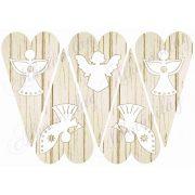 Szív alapok fa struktúrával - angyalkákkal