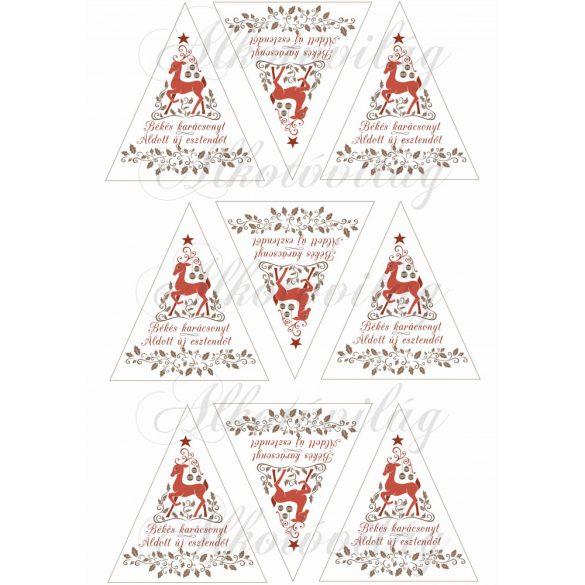 Szarvasos karácsonyi háromszögek – magyar