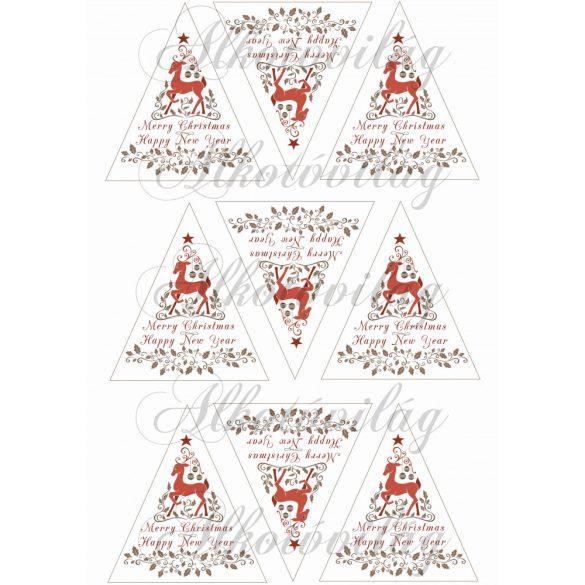 Szarvasos karácsonyi háromszögek – angol