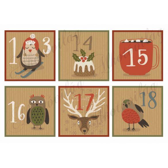 Adventi naptár retro mintákkal