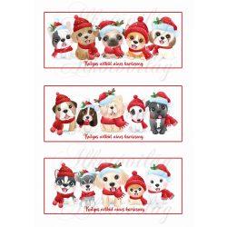 Kutyus nélkül nincs karácsony-háromféle mintával