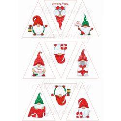 Manók háromszögben karácsonyfadíszhez