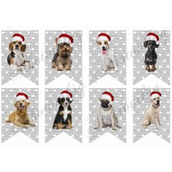 Pöttyös banner karácsonyi kutyusokkal