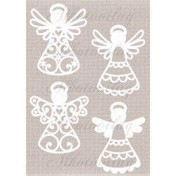 Fehér angyalok szövet textúrán