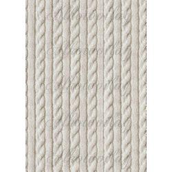 Kötött minta - törtfehér