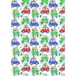 Karácsonyi kisautók kék és zöld színben KICSIBEN