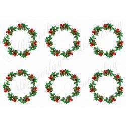 Karácsonyi koszorúk piros masnikkal