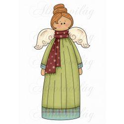 Hosszú zöld ruhás angyalka