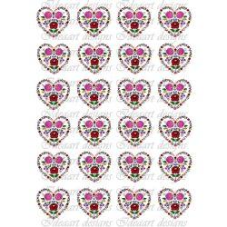 Kalocsai apró szívek