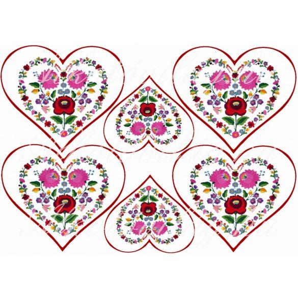 Kalocsai szívek nagyban