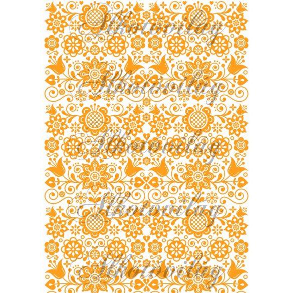 Folk minta narancsban