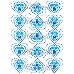 Kalocsai szívek kékben