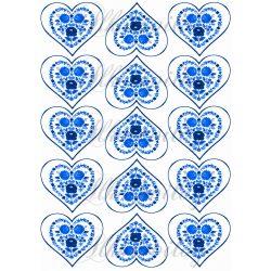Kék szív riseliő minták