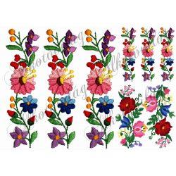 Népi virág motívum kollázs