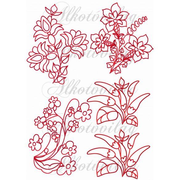 Népi virág motívumok