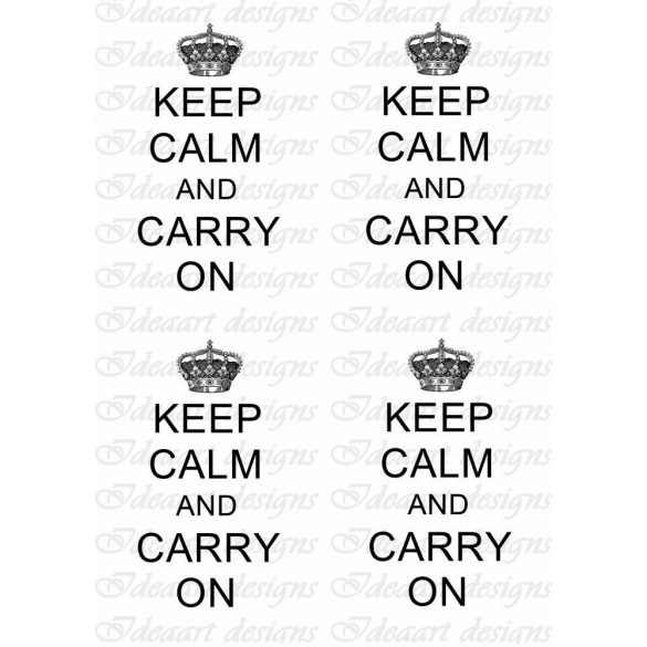 Keep calm... propaganda felirat