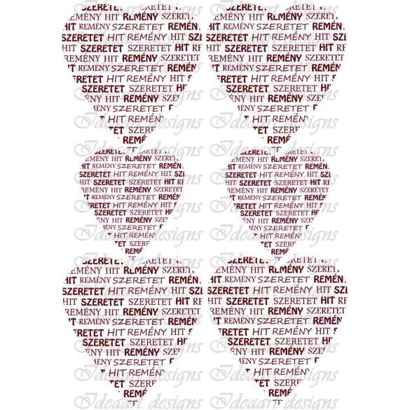 Hit, remény, szeretet bordóban