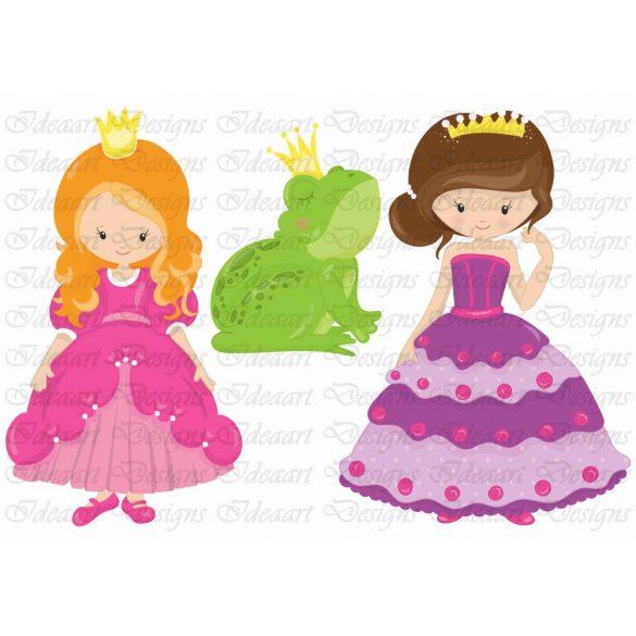 szépséges hercegnők békával