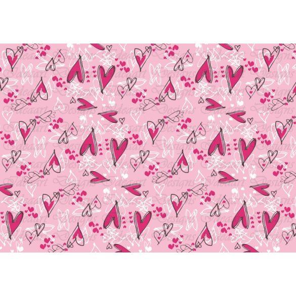 Szívek mindenfelé – pink