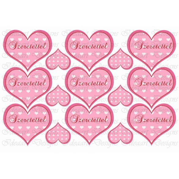 Szíves szívek rózsaszínben – szeretettel