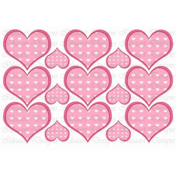 Szíves szívek rózsaszínben