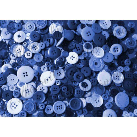 Kerek gombok kék színekkel