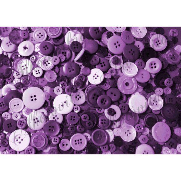 Kerek gombok lila színekkel
