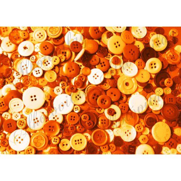 Kerek gombok narancs színekkel
