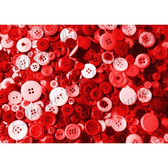 Kerek gombok piros színekkel